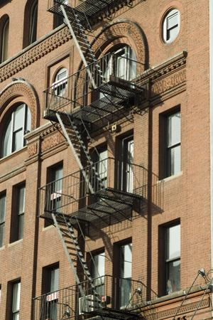 Fire Escapes, Tribeca, New York City, Ny, Usa by Natalie Tepper