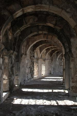 Interior Arches of Corridor at the Roman Amphitheatre, Aspendos, Turkey by Natalie Tepper