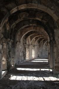 Interior Arches of Corridor at the Roman Amphitheatre, Aspendos, Turkey by Natalie Tepper