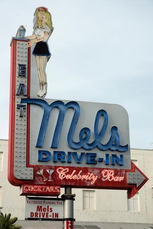 Mel's Diner sign, Hollywood, Los Angeles, California, USA