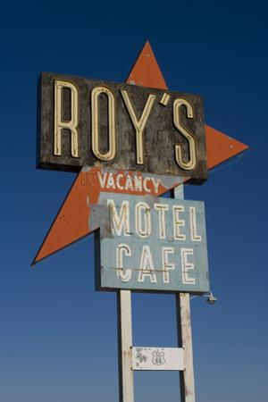 Old motel sign on Route 66, Amboy, California, USA by Natalie Tepper