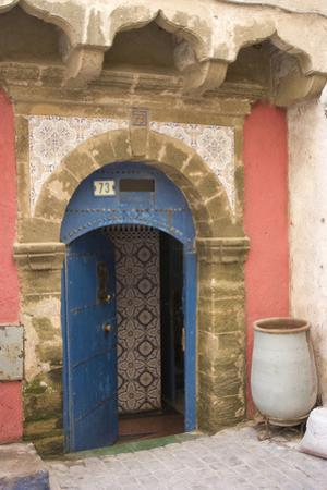 Painted and Carved Riad (Guesthouse) Entrance, Essaouira, Morocco by Natalie Tepper