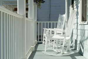 Rocking Chairs on a Porch. Stonington, Connecticut by Natalie Tepper
