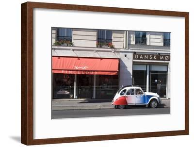 Street Scene with Deux Chevaux Car, Paris, France