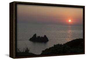 Sunset over the Sea from Villagio Maya, Costa Paradiso, Sardinia, Italy by Natalie Tepper