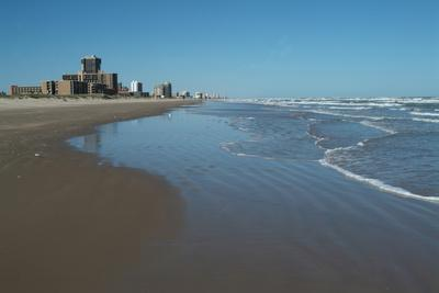 The Beach and Resort of South Padre Island, South Texas, Usa