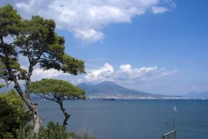 The Classic View over the Bay of Naples Towards Mount Vesuvius, Naples, Campania, Italy, Europe by Natalie Tepper