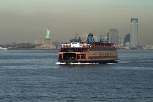 The Staten Island Ferry, New York City, New York, Usa by Natalie Tepper