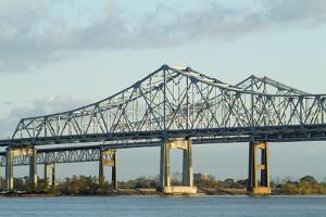 Vicksburg I-20 Mississippi River Bridge, Mississippi, 1973 by Natalie Tepper