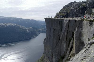 View of Lysefjord and Preikestolen (Pulpit Rock) Near Stavanger, Norway