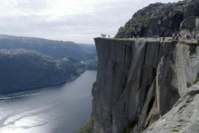 View of Lysefjord and Preikestolen (Pulpit Rock) Near Stavanger, Norway by Natalie Tepper