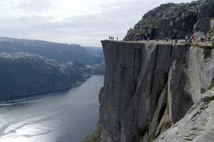 View of Lysefjord and Preikestolen (Pulpit Rock) Near Stavanger, Norway by Natalie Tepper