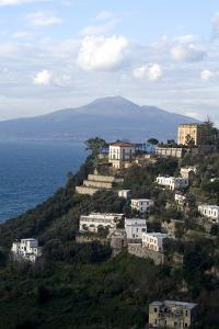 View of the Town of Vico Equense and Mount Vesuvius in the Background, Near Sorrento, Italy by Natalie Tepper
