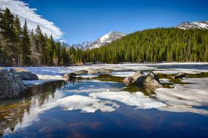 Bear Lake at the Rocky Mountain National Park, Colorado, USA by Nataliya Hora