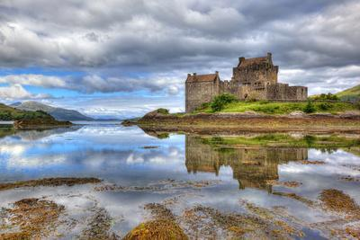 Eilean Donan Castle on a Cloudy Day, Highlands, Scotland, UK