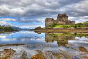 Eilean Donan Castle on a Cloudy Day, Highlands, Scotland, UK by Nataliya Hora