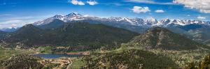 Panoramic View of Rocky Mountains from Prospect Mountain, Estes Park, Colorado, USA by Nataliya Hora