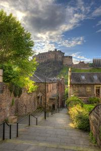 View on Edinburgh Castle from Heriot Place, Edinburgh, Scotland, UK by Nataliya Hora