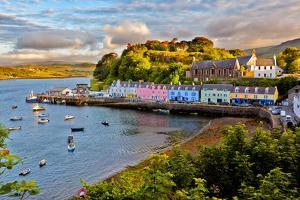 View on Portree before Sunset, Isle of Skye, Scotland by Nataliya Hora