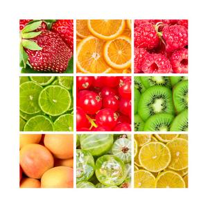 Collage Of Fresh Fruits by Natalyka