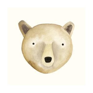 Bear Watercolor Face by Natasha Marie