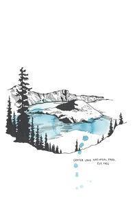 Nation Park Crater Lake by Natasha Marie