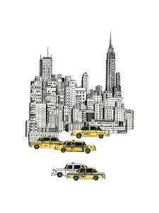 New York Taxis by Natasha Marie