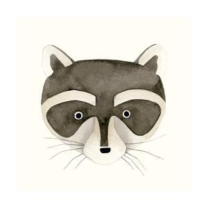 Raccoon Watercolor Face by Natasha Marie