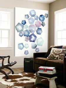 Watercolor Hexagons A by Natasha Marie