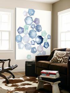 Watercolor Hexagons B by Natasha Marie