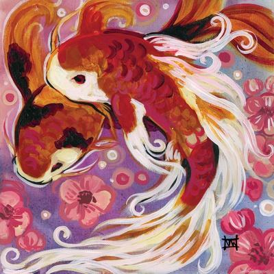 Koi and Cherry Blossoms