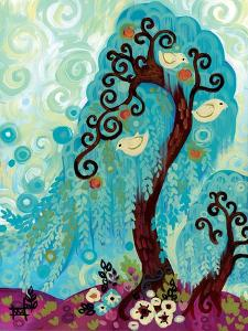 Spritely Blue Willow by Natasha Wescoat