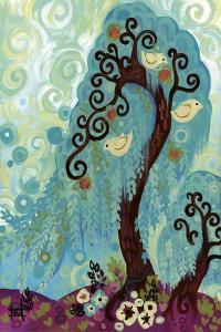 Spritely Blue Willows by Natasha Wescoat