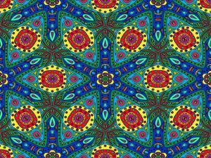 Kaleidoscope Color Pattern by natbasil