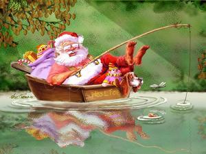 Santa Fishing by Nate Owens