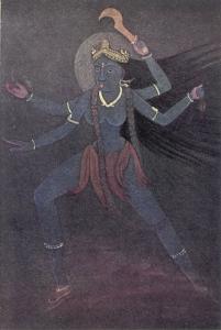 The Goddess Kali the Malevolent Aspect of Shiva's Wife Parvati by Nath Karl