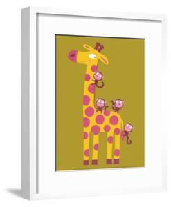 The Giraffe and the Monkeys by Nathalie Choux