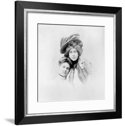 Nathalie Clifford Barney and Renee Vivien Late 19th Century- Otto Studio-Framed Giclee Print