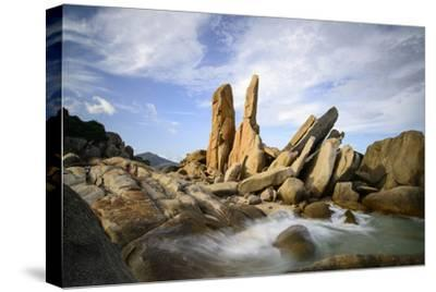 Granitic Boulders in Vinh Hy Bay, Nui Cha National Park, Ninh Thuan Province, Vietnam, Indochina