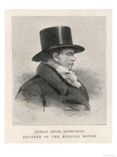 Nathan Mayer Rothschild Founder of the English Branch of the International Banking House--Giclee Print