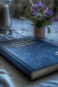 Book and Flowers by Nathan Wright