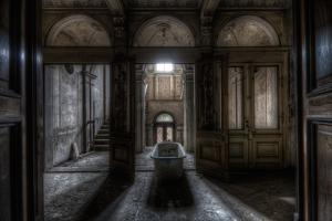 Haunted Interior Bathroom by Nathan Wright