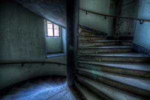 Haunted Interior Stariway by Nathan Wright