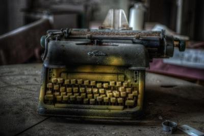 Haunted Interior with Typewriter