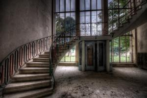 Old Stairway in Abandoned Building by Nathan Wright