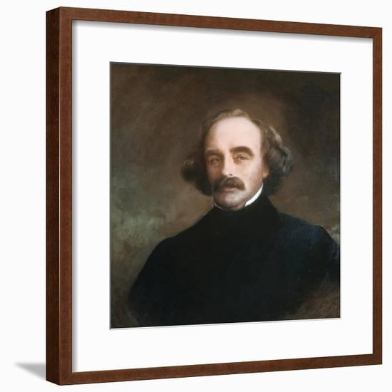 Nathaniel Hawthorne-Emanuel Gottlieb Leutze-Framed Giclee Print