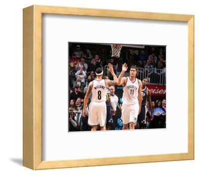 Nov 5, 2013, Utah Jazz vs Brooklyn Nets - Brook Lopez, Deron Williams