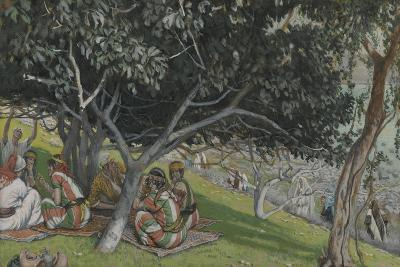 Nathaniel under the Fig Tree from 'The Life of Our Lord Jesus Christ'-James Jacques Joseph Tissot-Giclee Print