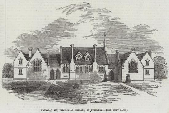 National and Industrial Schools, at Finchley--Giclee Print