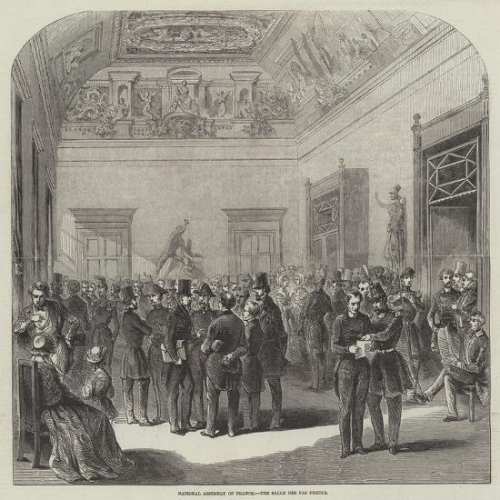 National Assembly of France, the Salle Des Perdus--Giclee Print